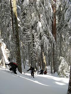 Snowshoers near the crest 2