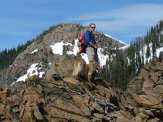 Running the ridge back to Bootjack (behind Barry and Gus)