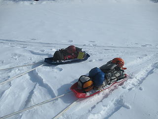 the sleds