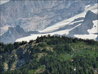 Telephoto Of Tolmie Lookout from Florence Peak, 8.1.09.