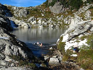 Swimming in the Central Tarn