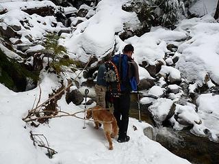 Gus and Jim at Dick Creek crossing