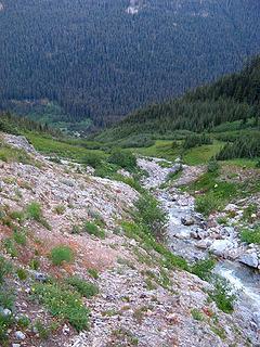 West Fork Devore Creek circa 6300