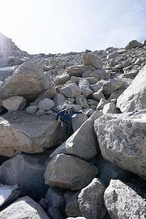 huge loose boulders