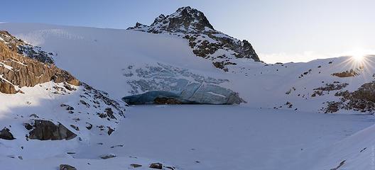 glacier lake below north Hagan