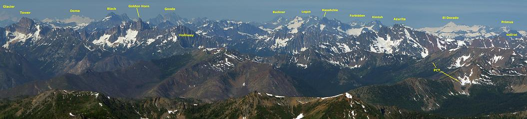 Panorama S from Robinson Mountain