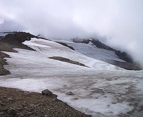 Sholes Glacier snowfield 09-18-05 ......... Nothing left but old snow.