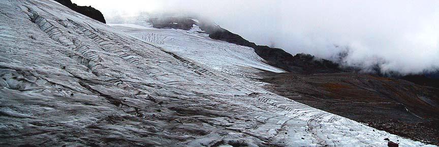 Sholes Glacier slope and terminus 09-18-05 ......... More old ice.     :(