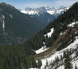 Avalanche from Wright Mtn into Wildcat Creek
