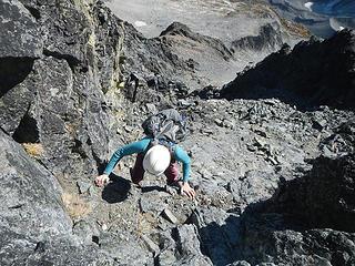 exposure below the summit