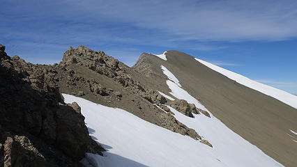 Final bit of the east ridge to the summit