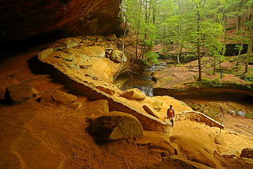 11- GaliWalker at Old Man's Cave (selfie)