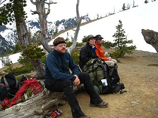Not smiling, Longs Pass