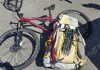 my bullet proof McHale pack and my old trusty Pivot