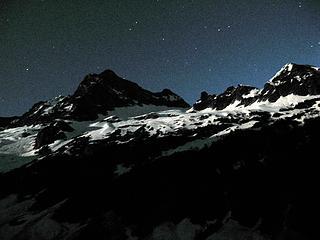 Thunder Peak at night.