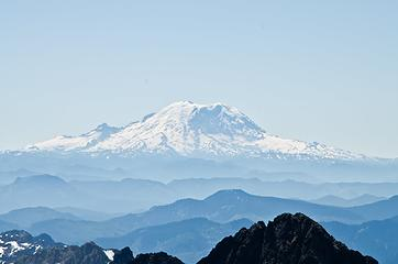 Rainier as seen from the summit of Chimney Rock.