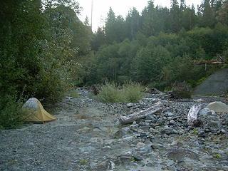 Camp on Boulder River