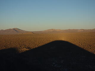 Sunset on Button Mtn (a cinder cone) and its shadow