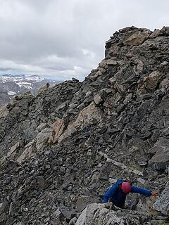 Easier terrain on the upper mountain
