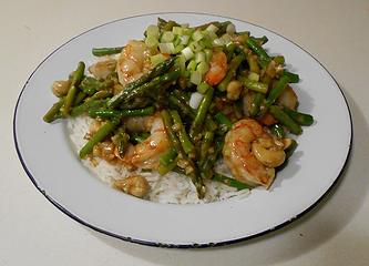 Wild Argentine Shrimp and Asparagus Stir-Fry 042220