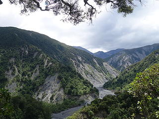 View further up the Hapuku Valley from the bypass trail