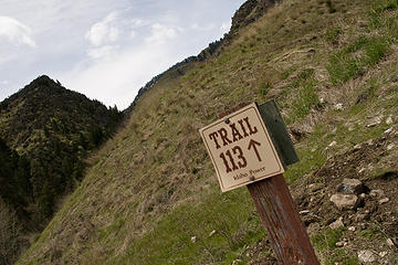 Trail head for the Rapid River and West Fork Trails, Seven Devils Mountains, Idaho.