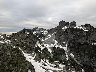 View (left to right) of Point 5760, Gunnshy, and Gunn Peak.