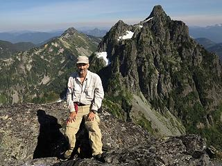 Me with the view to Townsend & Merchant Peaks