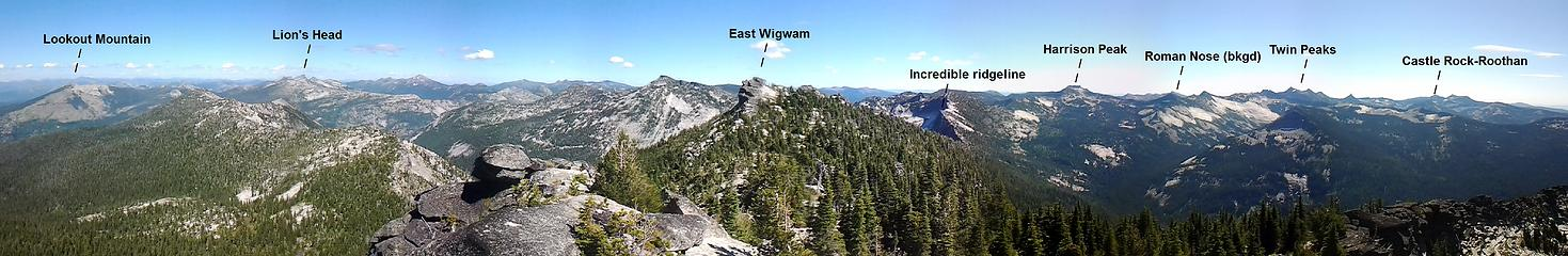 Panorama from the top of the west Wigwam