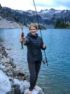 Deb caught a fish!