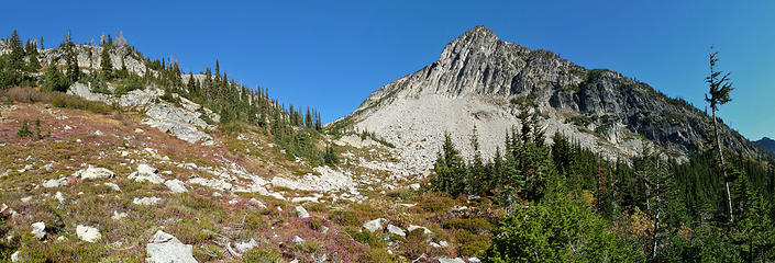 Breaking into an upper basin on the Copper Pass Trail
