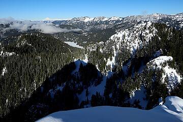 Looking northeast to Snoqualmie Lake and Glacier Peak