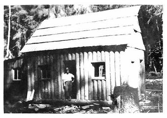 George Shaube homestead cabin Queets Valley 1923