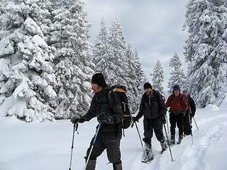 Hiking on the ridge top