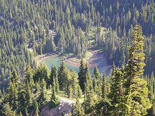 Lower Crystal lake from Crystal peak summit.