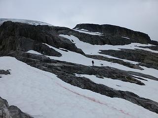 approaching Rebout Glacier
