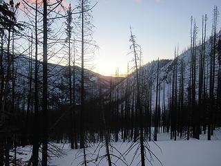 Sunrise while climbing Sunrise Peak