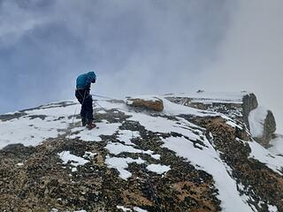 Rapping off the summit