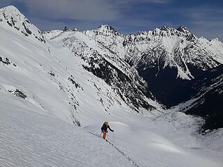 Starting up the glacier