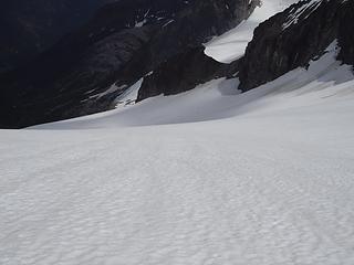 lots of snow below