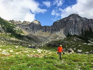 Looking N from Berdeen towards the start of today's trek up Mt Hagan