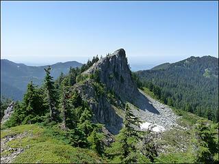 High Point Between Florence Peak & Howard Peak, On Alki Crest, 8.1.09.