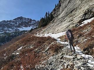 Trail up to Spider Gap