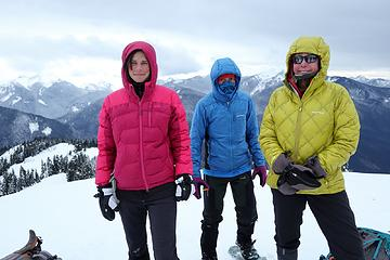 Color printer cartridge on the summit – Magenta, Cyan & Yellow (aka Steph, Carla, and Elle)