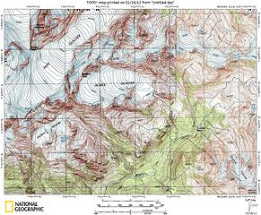 Camp Pan to Queets Basin map