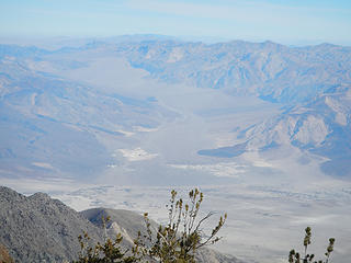 Saline Valley (the hotsprings is the black dot in the white area)