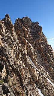 Looking along the steep east face