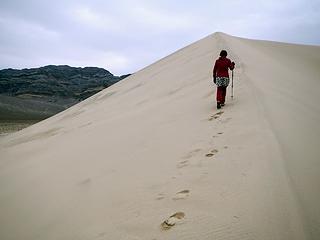 ascending Eureka Dunes
