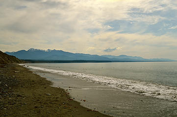 Looking toward Port Angeles and the Olympics