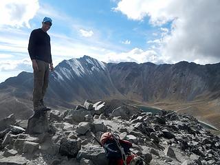John on the summit of Humboldt